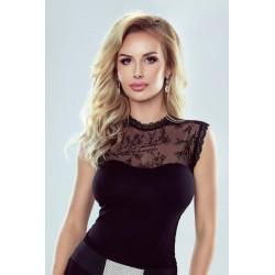 Bluzka damska bez rękawów JENIFER w czarnym kolorze