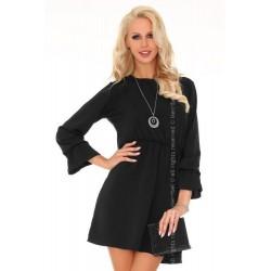 Sukienka damska do kolan Aniali w czarnym kolorze
