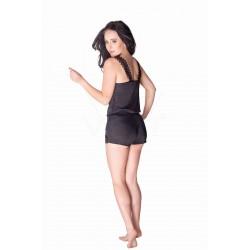 Jedwabna piżama damska Marika czarna