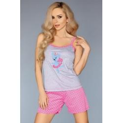 Wiskozowa piżama dwuczęściowa koszulka z szortami