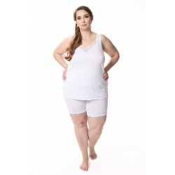 Koszulka damska Melodyna jedwab wiskozowy biała