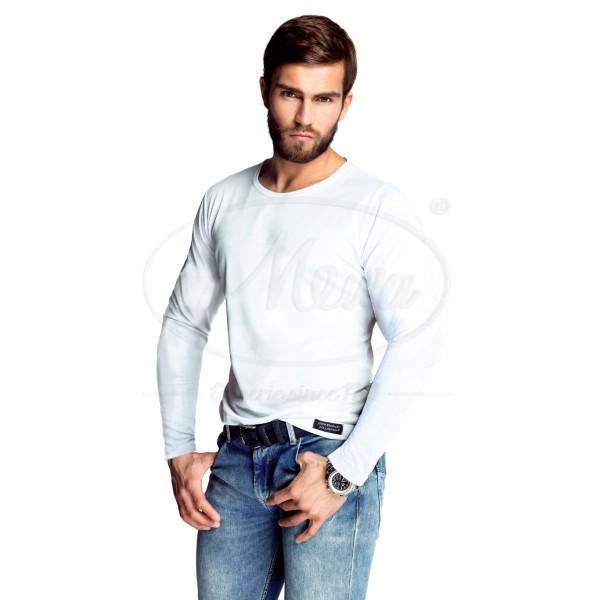 T-shirt męski dobrej jakości okrągły dekolt