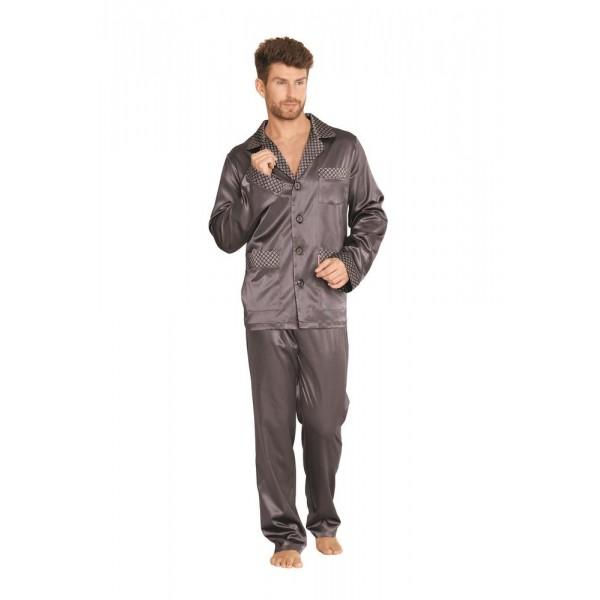 Piżama męska rozpinana Satynowa