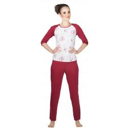 Piżama Caprise z jedwabiu wiskozowego