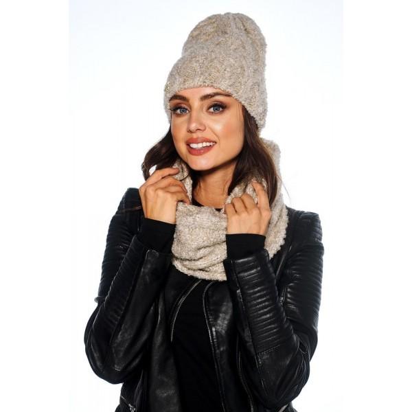 Czapki damskie zimowe eleganckie komplety Moherowe
