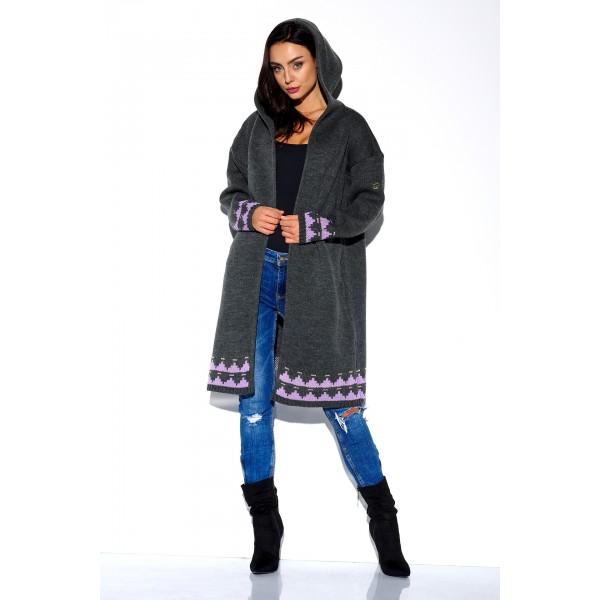 Sweter damski z Kapturem ls259