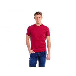 T-SHIRT MĘSKI BORDO