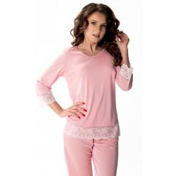Jedwabna piżama Peonia Mewa