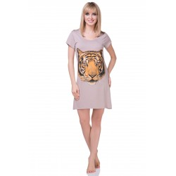 Koszula nocna - Tygrys - beżowa