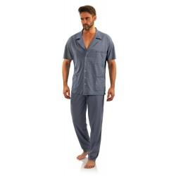 Piżama męska rozpinana Kotwiczki krótki rękaw