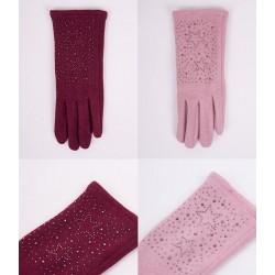 Rękawiczki damskie wzór Jety