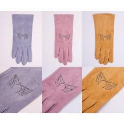 Rękawiczki damskie Zamsz