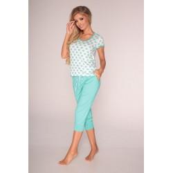Piżama damska Coline krótki rękaw kropki