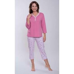 Piżama bawełniana Różowa