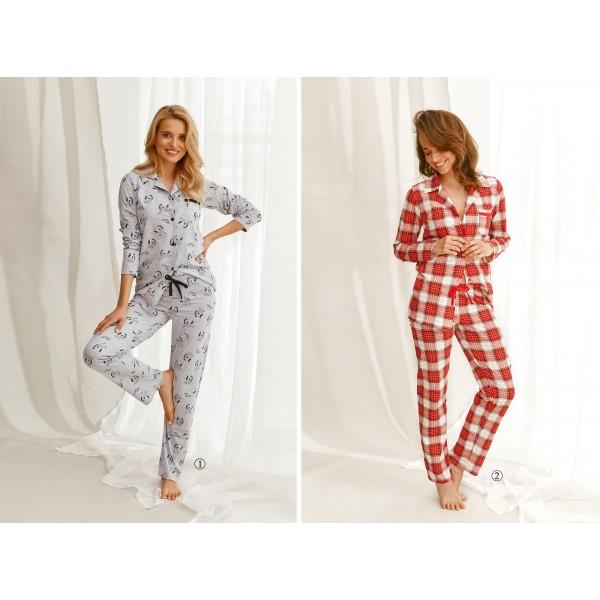 Piżama damska w kratę oraz zebra Celine