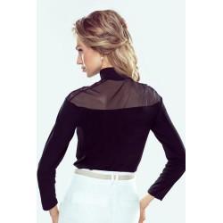 Bluzka wiskozowa Linet czarna