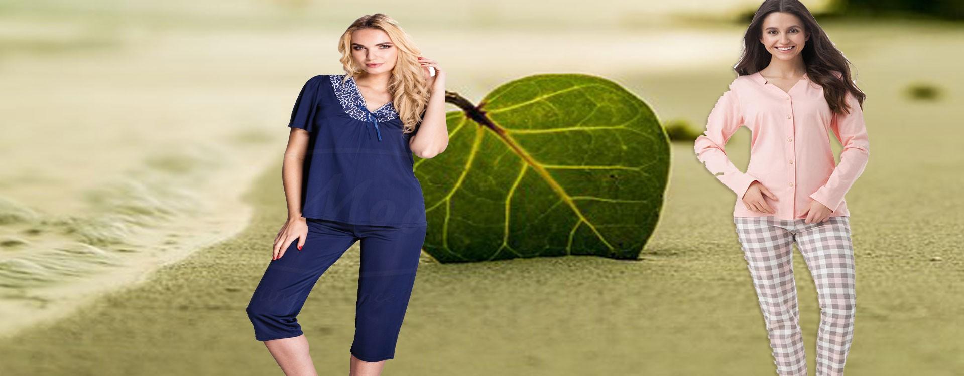 Piżamy damskie duży wybór fasonów i modeli.